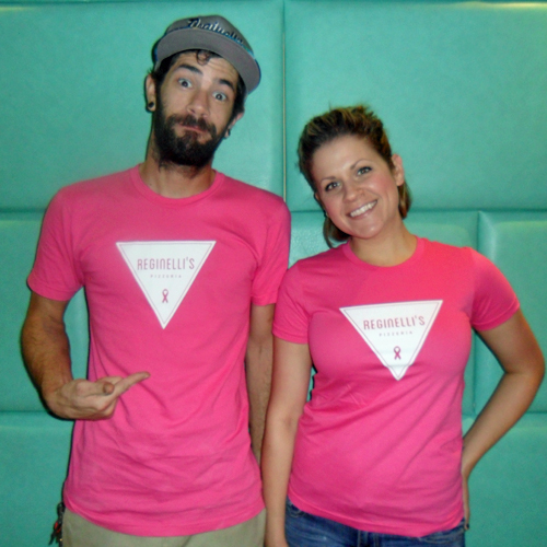Reginelli's Pizzeria   Pink Shirts